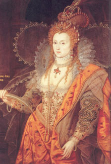 Contemporary portrait of Elizabeth the First